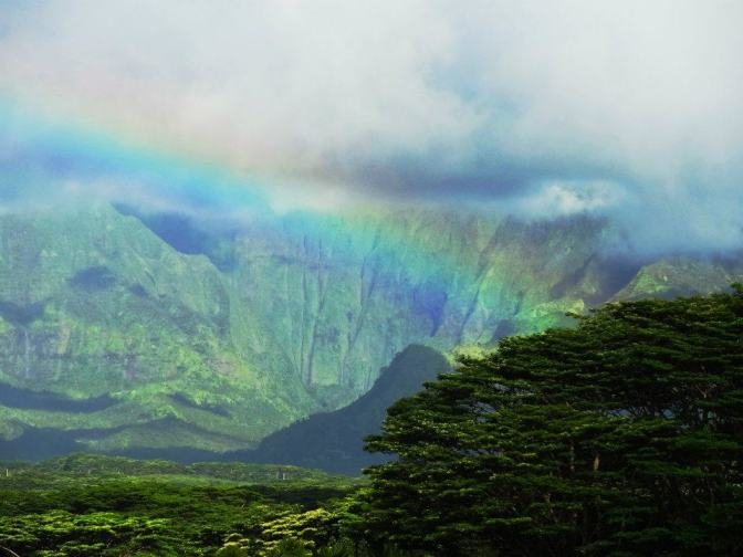 rainbow over Kauai